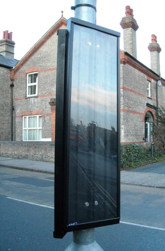 Bus stop noticeboard near Kettle's Yard
